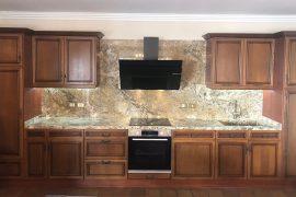 Unique Reconstruction of 30-year Oak Kitchen